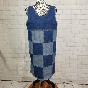 Kyoto Kasuals patchwork dress size m